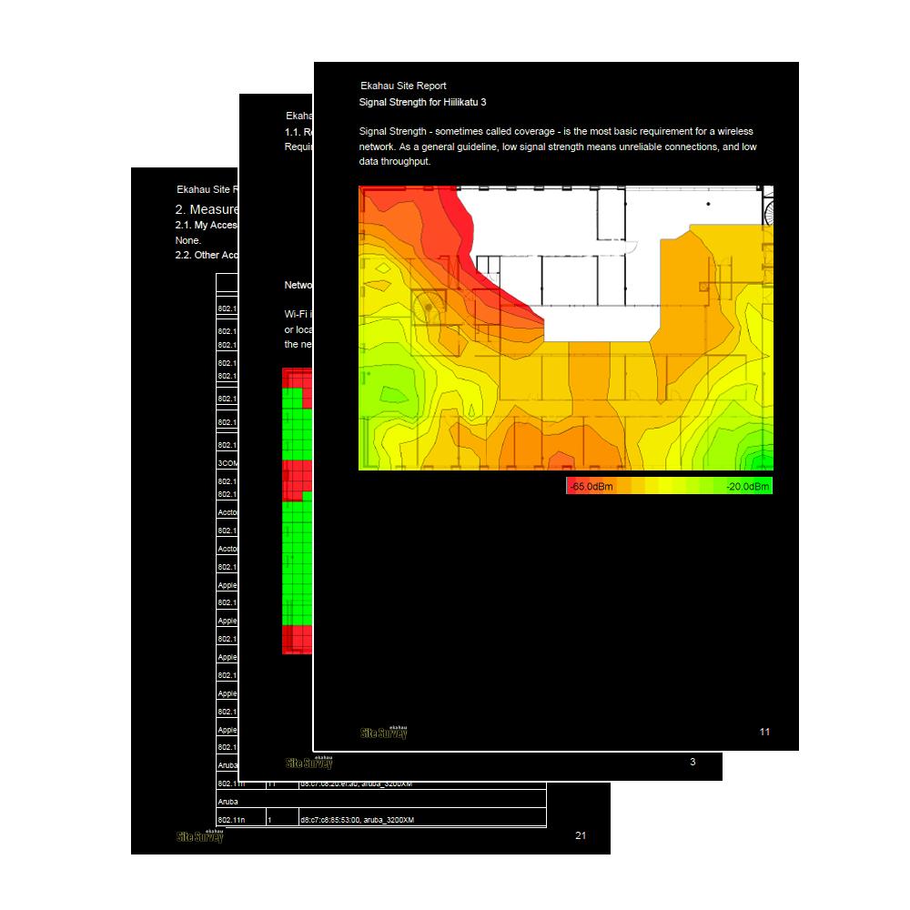 Ekahau Site Survey + Wi-Fi Planner - SpectroTech SpectroTech