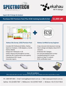 Ekahau Site Survey (ESS) + ECSE Bundle - SpectroTech SpectroTech