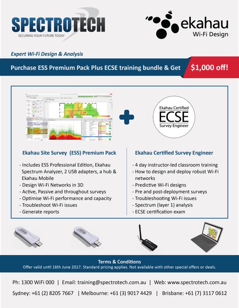 Ekahau ESS and ECSE training bundle