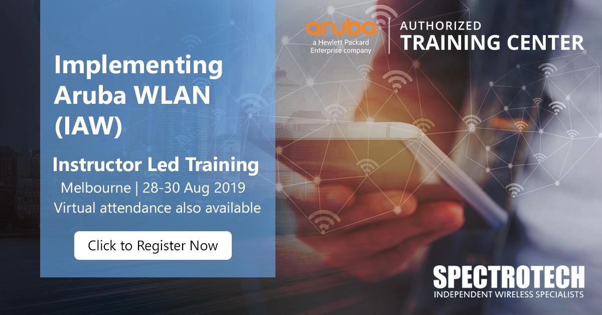 Implementing Aruba WLAN (IAW) Training - Call 1300 WiFi 000